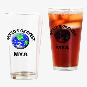 World's Okayest Mya Drinking Glass