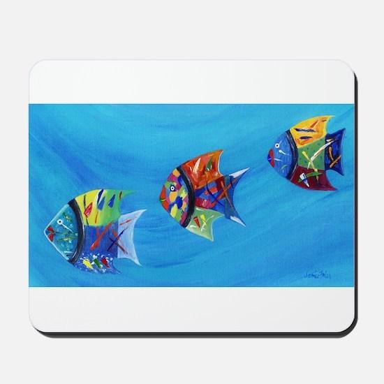 Three Little Fishy's Mousepad