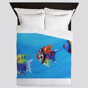 Three Little Fishy's Queen Duvet