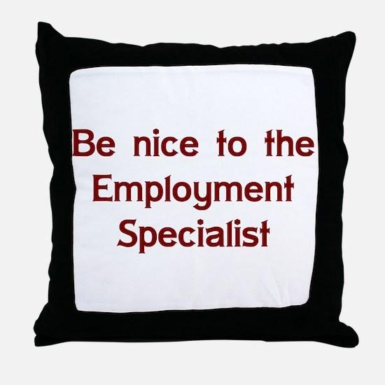Employment Specialist Throw Pillow