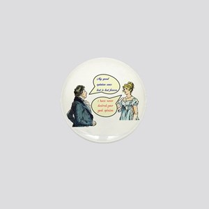 "Jane Austen ""good opinion"" quotes Mini Button"