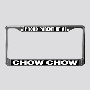 Proud Parent of a Chow Chow License Plate Frame