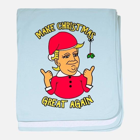 Make Christmas Great Again baby blanket