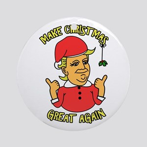 Make Christmas Great Again Round Ornament