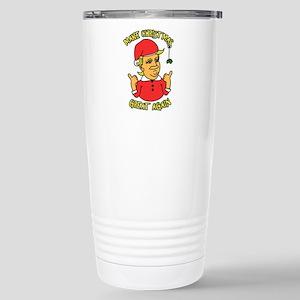 Make Christmas Great Ag Stainless Steel Travel Mug