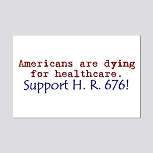 Americans Are Dying For Healt Mini Poster Print