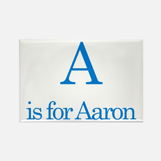 A is for Aaron Rectangle Magnet (10 pack)