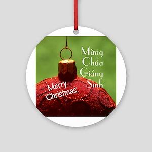 Vietnamese Christmas Ornament (Round)