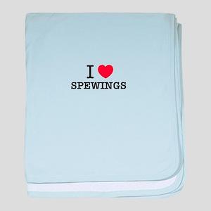 I Love SPEWINGS baby blanket