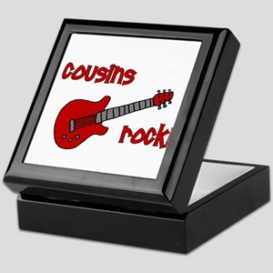 Cousins Rock! red guitar Keepsake Box