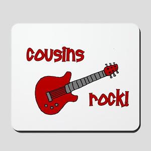 Cousins Rock! red guitar Mousepad