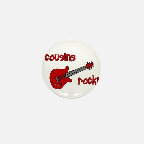 Cousins Rock! red guitar Mini Button