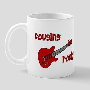 Cousins Rock! red guitar Mug