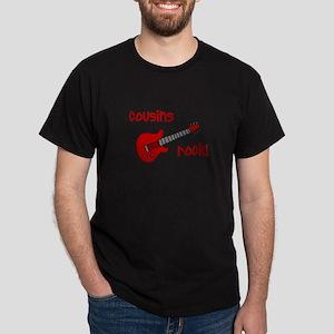 Cousins Rock! red guitar Dark T-Shirt