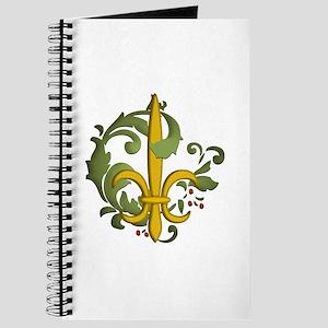 Christmas Fleur de lis Journal