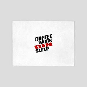 Coffee Work Gin Sleep 5'x7'Area Rug