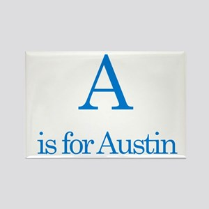 A is for Austin Rectangle Magnet (10 pack)