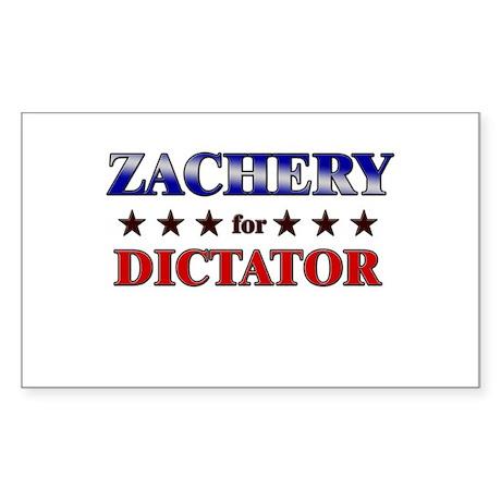 ZACHERY for dictator Rectangle Sticker