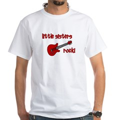Little Sisters Rock! red guit White T-Shirt
