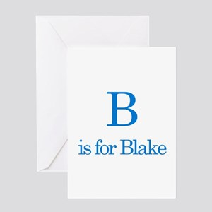 B is for Blake Greeting Card