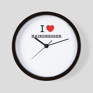 I Love HAIRDRESSER Wall Clock
