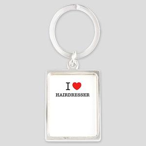 I Love HAIRDRESSER Keychains