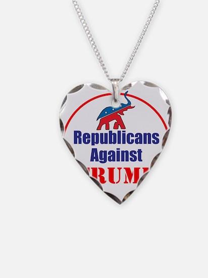 Republicans against Donald Trump Necklace