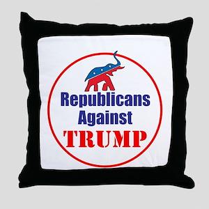 Republicans against Donald Trump Throw Pillow