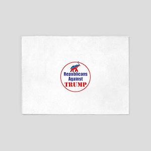 Republicans against Donald Trump 5'x7'Area Rug