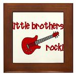 Little Brothers Rock! red gui Framed Tile
