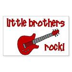 Little Brothers Rock! red gui Sticker (Rectangular