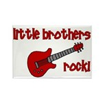 Little Brothers Rock! red gui Rectangle Magnet