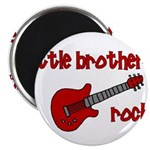 Little Brothers Rock! red gui Magnet