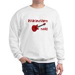 Little Brothers Rock! red gui Sweatshirt