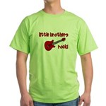 Little Brothers Rock! red gui Green T-Shirt