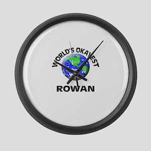 World's Okayest Rowan Large Wall Clock