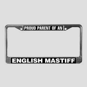English Mastiff License Plate Frame