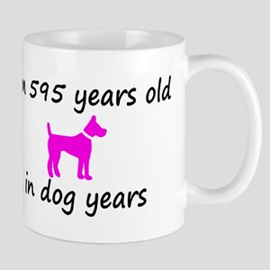 85 Dog Years Hot Pink Dog 2 Mugs