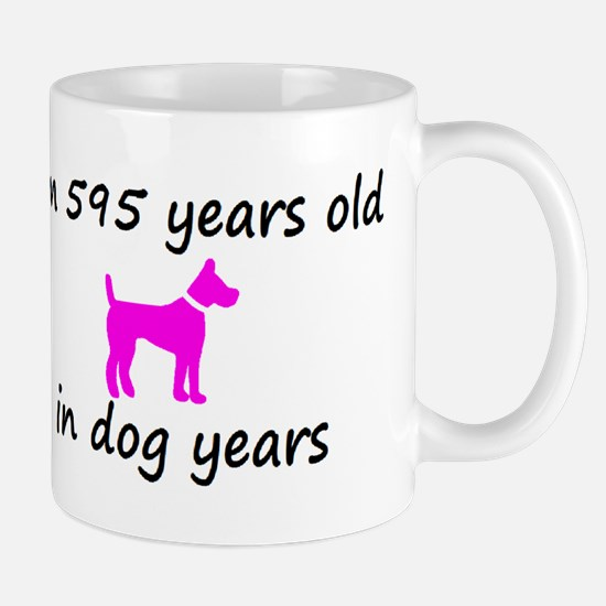 85 Dog Years Hot Pink Dog 2 Mugs