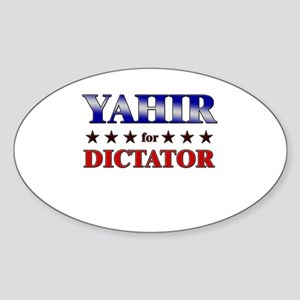 YAHIR for dictator Oval Sticker