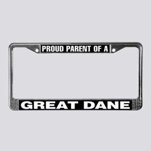 Proud Parent of a Great Dane License Plate Frame