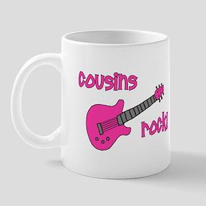 Cousins Rock! pink guitar Mug
