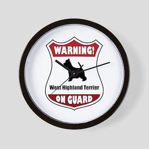 Westy On Guard Wall Clock