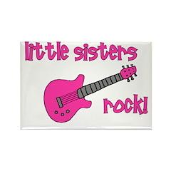 Little Sisters Rock! pink gui Rectangle Magnet