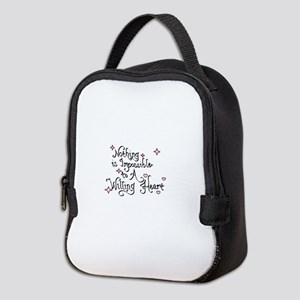 Nothing is Impossible to A Will Neoprene Lunch Bag