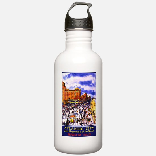 Atlantic City New Jersey Travel Water Bottle