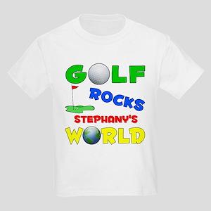 Golf Rocks Stephany's World - Kids Light T-Shirt