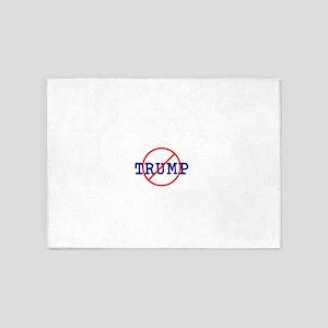 Anti Trump, no Trump 5'x7'Area Rug