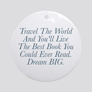 Live The Best Book Round Ornament