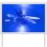 Blue Dragonfly Yard Sign